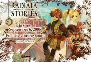 Radiata Stories: Ouverture du site US