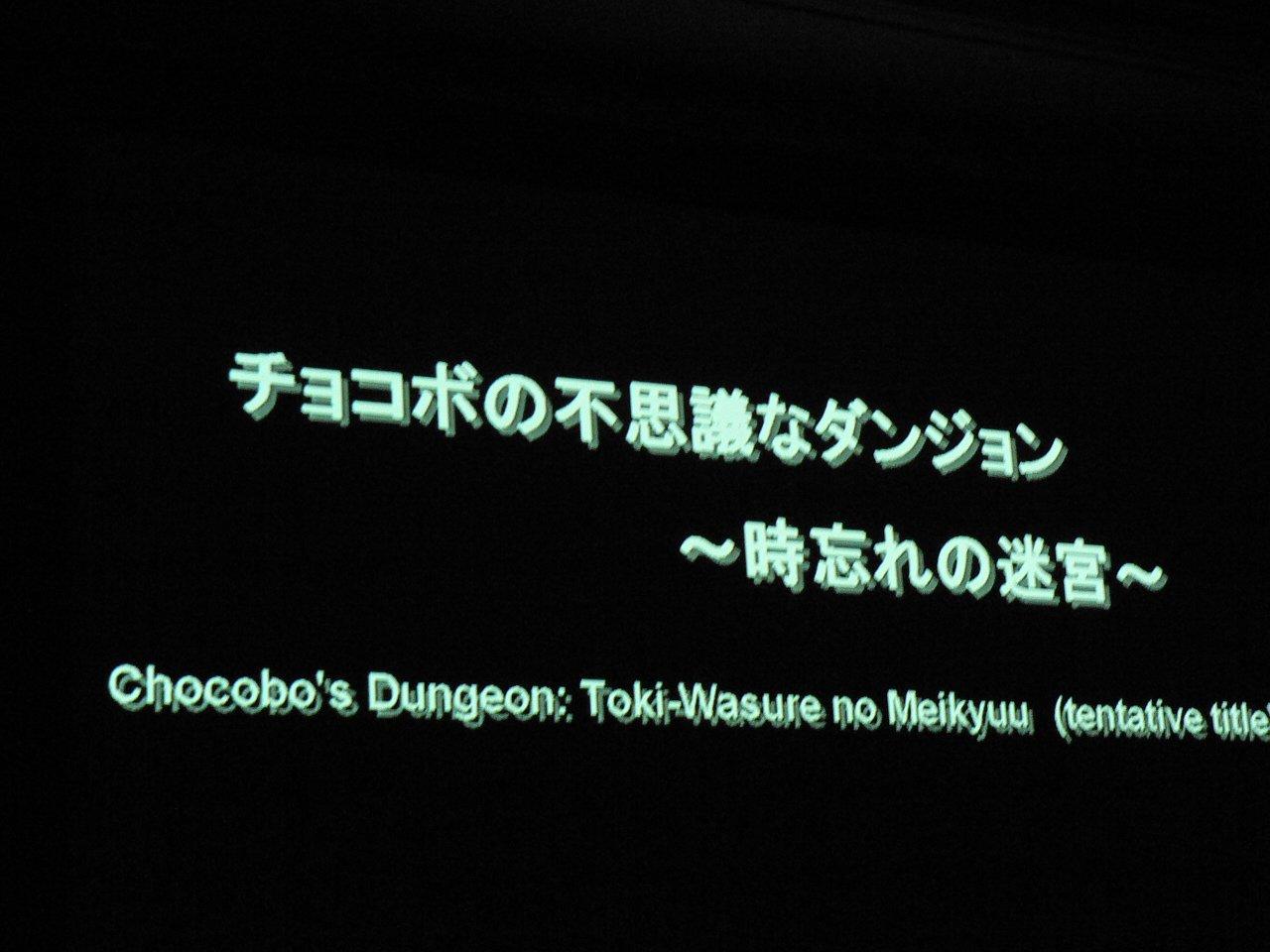 Un Chocobo's Dungeon sur Wii