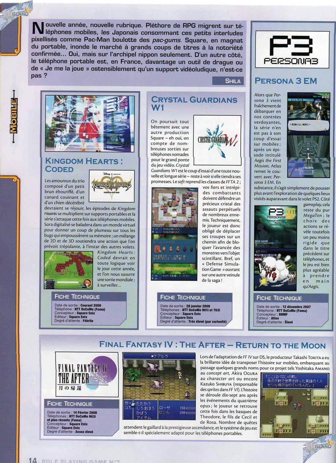 RPG Mag: Des scans HD et des Artworks Inédits