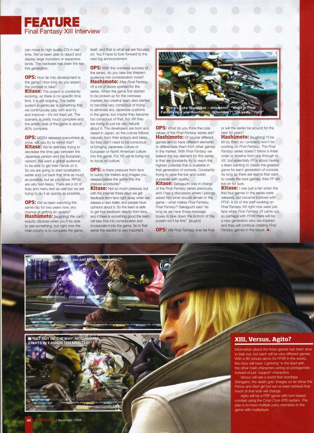 Final Fantasy XIII - Ca avance … Un peu