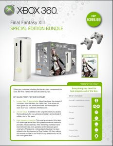 Le pack Xbox 360 + FFXIII aux USA!