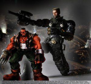 Barret Wallace (Final Fantasy VII, 1997) et Lawrence Barrett (Deus Ex: Human Revolution, 2011)