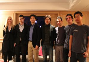 De gauche à droite: Diane Perrin, Idir, Yoshinori Kitase, Motomu Toriyama et Finaland avec Arsène, Gilles et Nicolas.