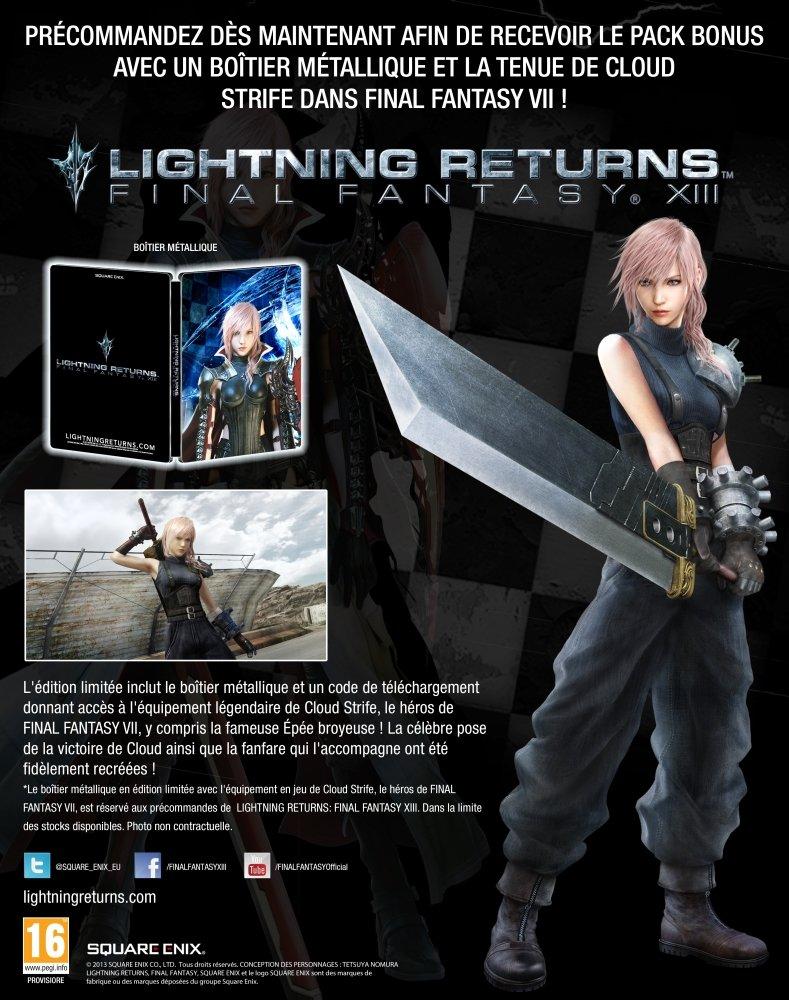 Bonus de précommande et visuels pour Lightning Returns!