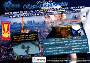 Concours #SakaguchiAParis: Dédicace + place pour JAPAN EXPO