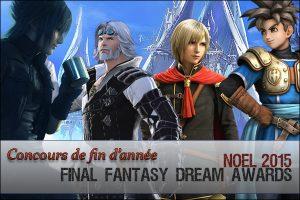Podium des Final Fantasy Dream Awards 2015