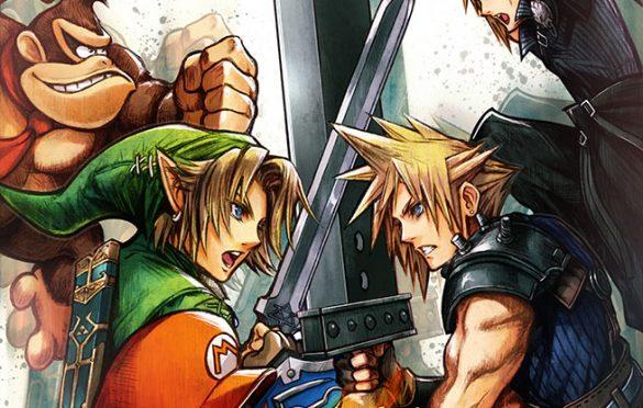 Illustration par Tetsuya Nomura pour l'arrivée de Cloud dans SSB for Wii U & 3DS