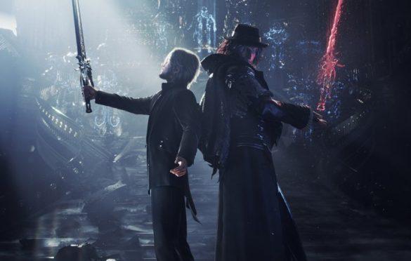 Illustration 3D mettant en scène le conflit entre Noctis et Ardyn
