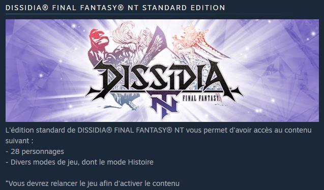 Dissidia Final Fantasy : toutes les images du jeu sur PS4
