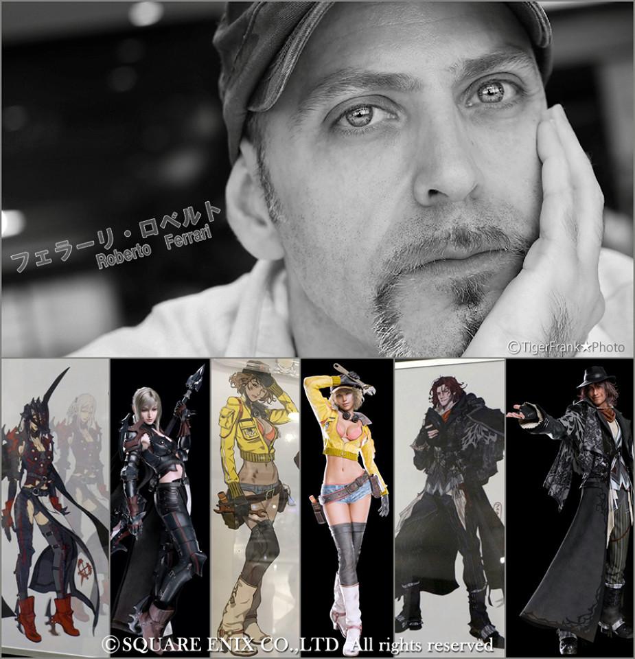 Roberto Ferrari et Final Fantasy Type-0 : anecdotes