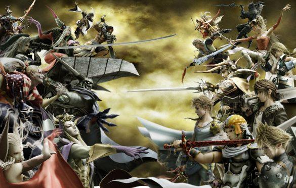 Visuel promotionnel de Dissidia (PSP) mettant en scène le