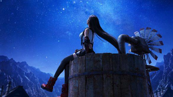 Tifa se remémore son enfance à Nibelheim, et probablement de ses promesses faites au clair de lune. (SQEX FR)