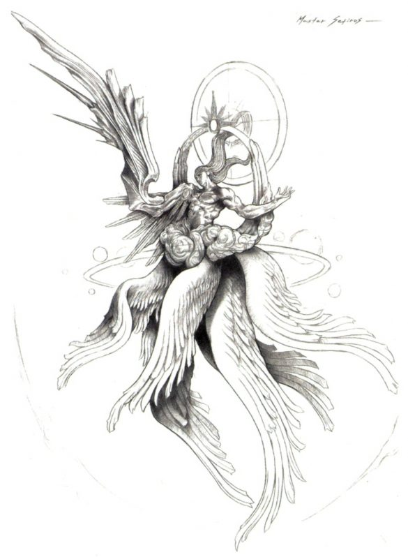 Illustration conceptuelle de Safer Sephiroth par Tetsuya Nomura