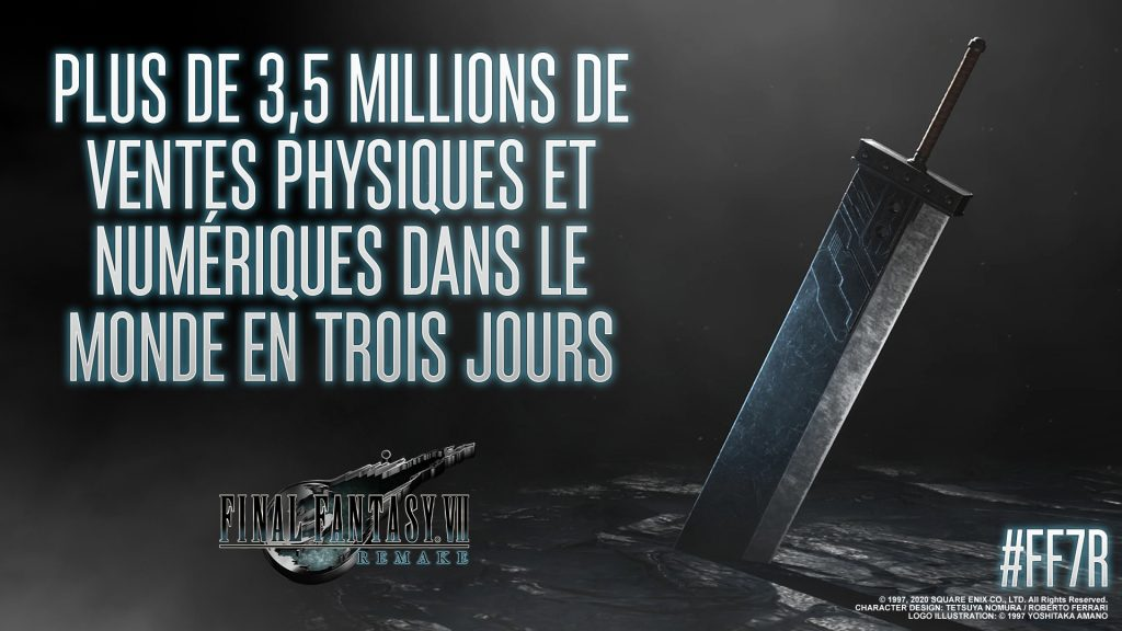 Final Fantasy VII Remake : C'est 3,5 millions en seulement 3 jours dans le monde
