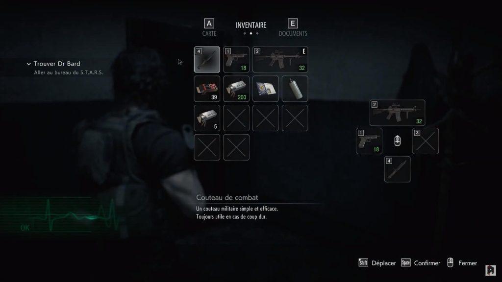 Une bonne gestion de son inventaire peut vous sauver dans Resident Evil