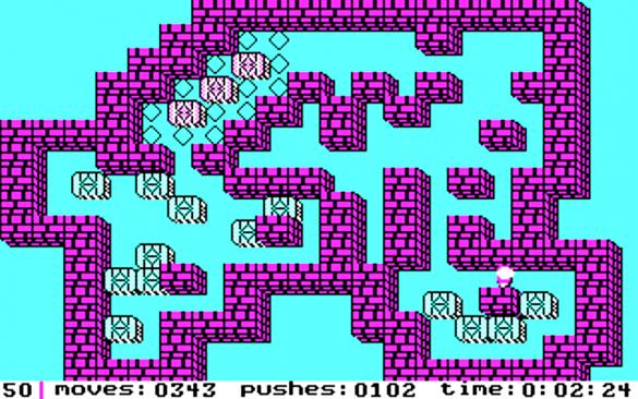 Sokoban est un jeu de réflexion vous demandant de déplacer des caisses afin de les ranger au bon endroit